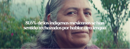 """81.6% of indigenous Mexican have felt ""rejected"" because of the language they speak"""